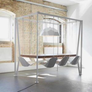 Swing dining table