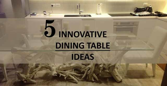 5 innovative dining table ideas archi fied for Innovative dining table designs