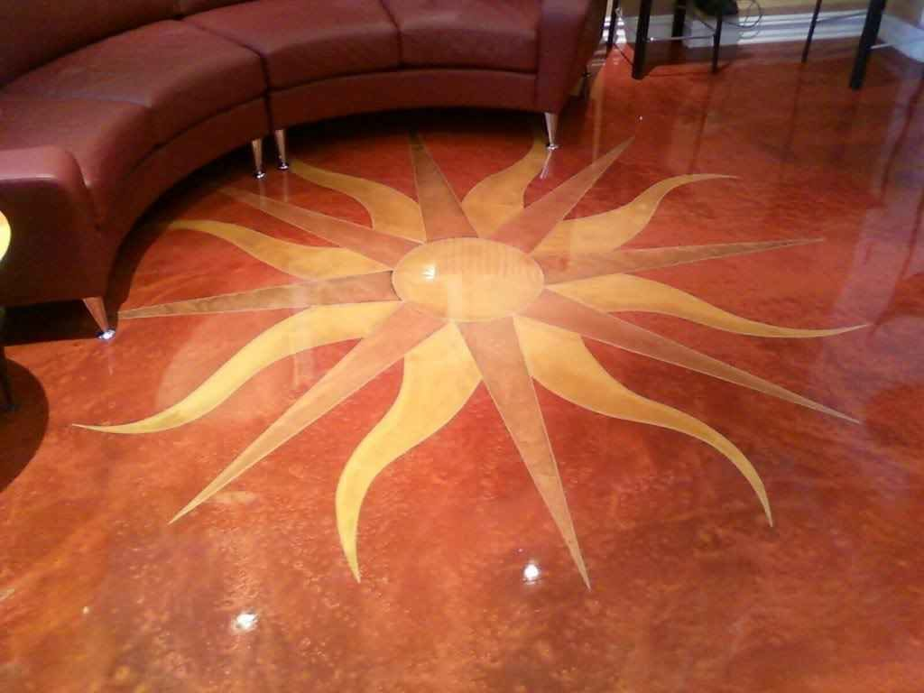 room a in floor preparation concrete grinder right it coating all swirl finished metallic with epoxy coatings