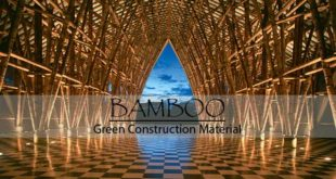 Bamboo green construction material